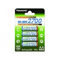 Pile AA PANASONIC Ni-MH 2700 2500 mAH ( 4 piles )