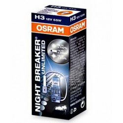 Osram Nightbreaker Unlimited 12V H3 55W 64151NBU