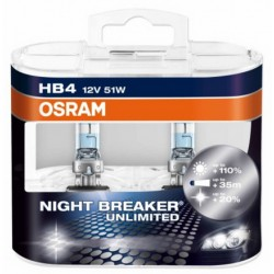 Osram Nightbreaker Unlimited 12V HB4 50W 9006NBU