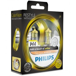 Philips ColorVision JAUNE H4 12V 60/55W