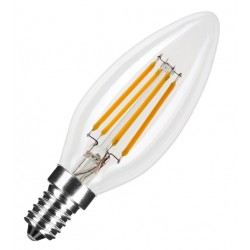 Flame LED filament 4W/827 E14