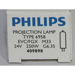 Philips 6958 250W 24V G6.35 EVC/FGX Focusline Flat Filament SE