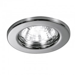 Recessed MR16 polished chrome