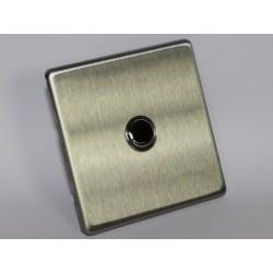 Interrupteur porte / Sonnette en acier brossé
