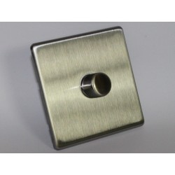 Interrupteur variateur rotatif en acier brossé 600W