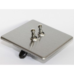 Toggle switch double brushed steel