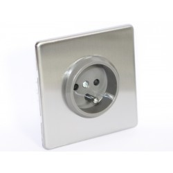 Outlet brushed steel