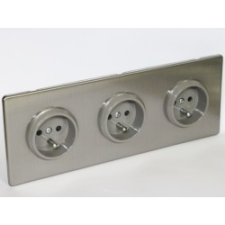 Outlet triple-brushed steel