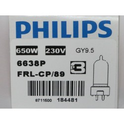 ampoule Philips 6638P 650W 230V GY9.5 FRL Broadway