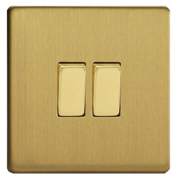 Switch key double in brushed brass