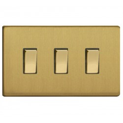Switch key triple-brushed brass