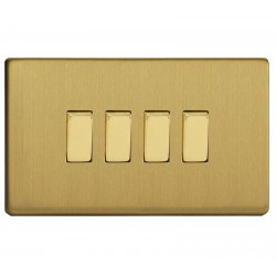 Switch key quad in brushed brass