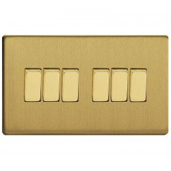Switch to 6 keys in brushed brass