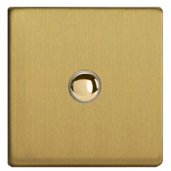 "Switch dimmer ""touch"" in brushed brass"