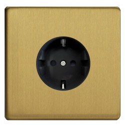 Power socket in brushed brass Germany