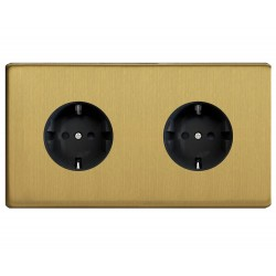 Outlet double brushed brass Germany