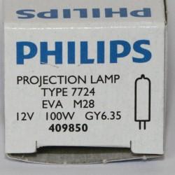 bulb Philips 7724 100W 12V GY6.35 EVA Focusline Flat Filament SE
