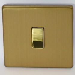 Interrupteur à touche simple en laiton brossé