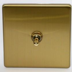 Interrupteur à levier goutte d'eau en laiton brossé