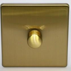 Interrupteur variateur rotatif en laiton brossé