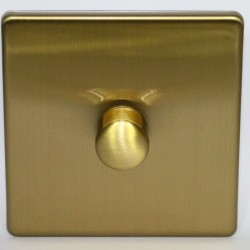 Switch dimmer rotary in brushed brass