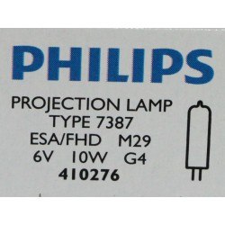 Philips 7387 10W 6V G4 ESA/FHD Focusline Microprojection