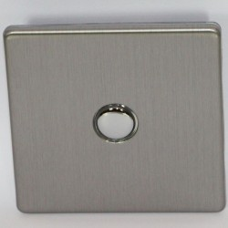 "Switch dimmer ""touch"" brushed steel"