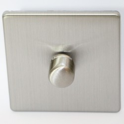 Switch dimmer rotary brushed steel