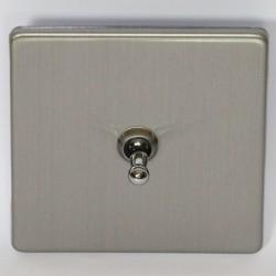 Interrupteur à bascule simple en acier brossé