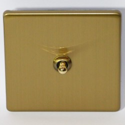 Switch lever-water-drop-in brushed brass
