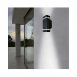 Applique Murale LED GU10 x 2 Gris Anthracite