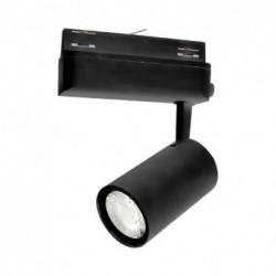 Spot LED sur Rail Noir 25W 3000°K 2200 LM ( 3 phases ))