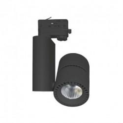 Spot LED sur Rail Noir 40W 3000°K 3600 LM