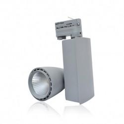 Spot LED sur Rail Gris 40W 4000°K 4300 LM + Adaptateur rail 3 allumages