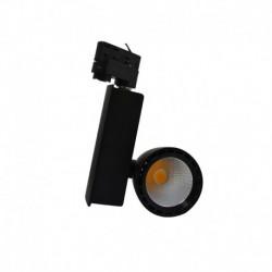 Spot LED sur Rail Noir 40W 4000°K 4300 LM + Adaptateur rail 3 allumages