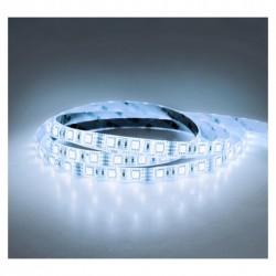 Ruban à LED 9000 Kelvin 5m 30 LED/m 72W IP65 12V. Puissance 72W ( 900 lumen / mètre )