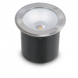 Spot LED Encastrable Sol Rond Inox 3W 230V 4500°K IP65