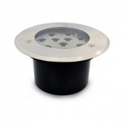 Spot LED Encastrable Sol Rond Inox Ø166MM 10W 230V 4500°K IP67