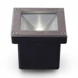 Spot LED Encastrable Sol Carré Inox 5W 4000°K