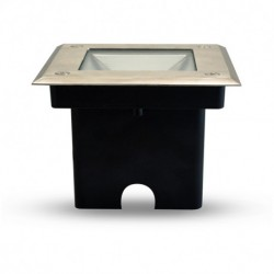 Spot LED Encastrable Sol Carré Inox 3W