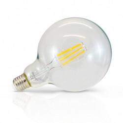 Ampoule globe filament LED E27 G125 8W 2300 Kelvin blanc très chaud 930 lumen