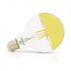 Ampoule LED E27 G95 Filament Miroir Doré 6W 2700°K