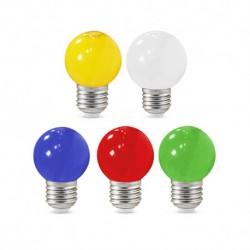 Ampoule LED sphérique E27 G45 1W x 5 couleurs