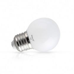 Ampoule sphérique LED décorative E27 RGB 1W