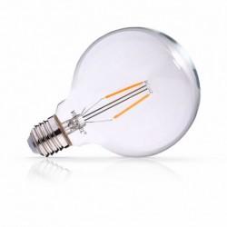 Ampoule globe filament LED E27 G125 2W 2700 Kelvin blanc chaud 250 lumen