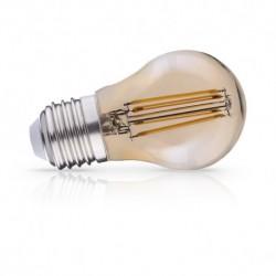 Ampoule LED sphérique dorée E27 G45 Filament 4W 2700 Kelvin 440 lumen