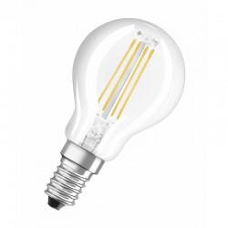 Ampoule sphérique filament LED E14 G45 OSRAM 4W 2700 Kelvin blanc chaud 470 lumen