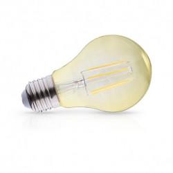 Ampoule filament LED dorée E27 8W 2700 Kelvin blanc chaud 1050 lumen