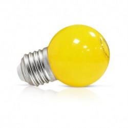 Ampoule LED sphérique E27 G45 1W jaune
