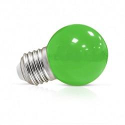 Ampoule LED sphérique E27 G45 1W vert